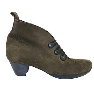 Arche Made in France Suede Leather Heeled Booties